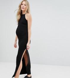 Платье макси с высокой горловиной ASOS Maternity - Черный