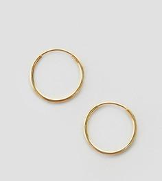 Позолоченные серебряные серьги‑кольца 9 мм ASOS - Золотой