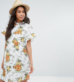 Свободное платье с тропическим принтом в винтажном стиле ASOS Maternity - Мульти