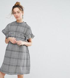 Свободное платье в клетку ASOS Maternity - Черный