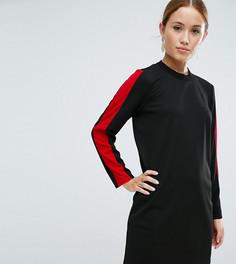 Свободное платье с открытой спиной ASOS PETITE - Черный