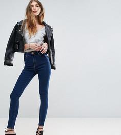 Синие джинсы скинни с завышенной талией ASOS TALL Ridley - Синий