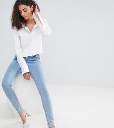 Выбеленные джинсы скинни с классической талией ASOS TALL - Синий