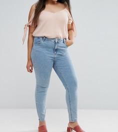 Выбеленные джинсы скинни с классической талией ASOS CURVE LISBON - Синий