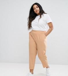 Тканые брюки галифе без застежки ASOS CURVE - Бежевый