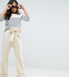 Широкие брюки с запахом ASOS TALL Karate - Бежевый