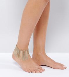 Браслет на ногу с бахромой из цепочек ALDO - Золотой