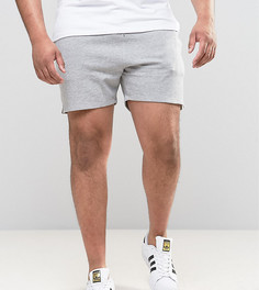 Серые меланжевые трикотажные шорты ASOS PLUS - Серый