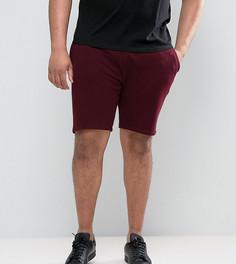 Бордовые трикотажные шорты зауженного кроя ASOS PLUS - Красный