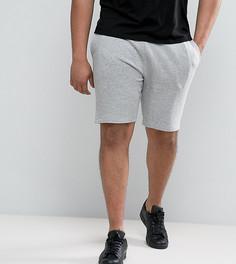 Серые меланжевые трикотажные шорты зауженного кроя ASOS PLUS - Серый