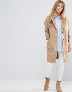 Пальто с добавлением шерсти Bellfield Corvara - Коричневый