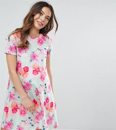 Свободное платье с цветочным принтом ASOS Maternity PETITE - Мульти