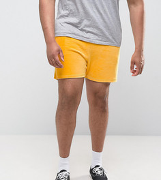 Желтые велюровые шорты ASOS PLUS - Желтый