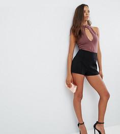 Короткие шорты ASOS PETITE Sculpt Me - Черный
