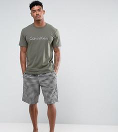 Пижамный комплект в сумке Calvin Klein - Зеленый