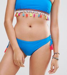 Плавки бикини с кисточками South Beach - Синий