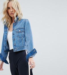 Выбеленная синяя джинсовая куртка ASOS PETITE - Синий