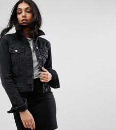 Выбеленная черная джинсовая куртка ASOS TALL - Черный