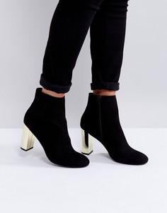 Ботинки на золотистом каблуке Miss KG - Черный