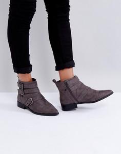 Ботинки с заклепками и пряжками Miss KG - Серый