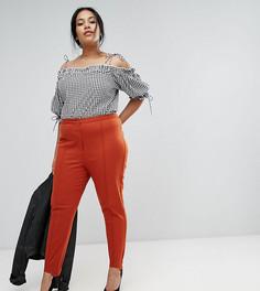 Выбеленные брюки ASOS CURVE - Оранжевый