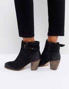Кожаные ботинки в стиле вестерн на среднем каблуке Carvela - Черный