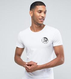 Белая футболка с логотипом Diesel - Белый