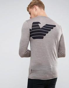 Зауженный джемпер колор блок Armani Jeans - Коричневый