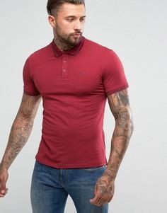 Поло бордового цвета облегающего кроя с контрастной окантовкой Armani Jeans - Красный