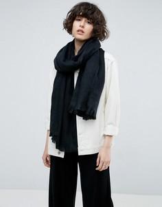 Длинный мягкий шарф ASOS - Черный