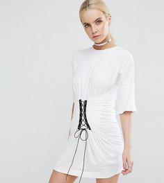 Платье-футболка Boohoo Petite - Белый