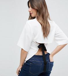 Блузка с завязкой на спине ASOS Maternity - Белый