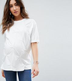 Оверсайз-футболка с защипами ASOS Maternity - Белый