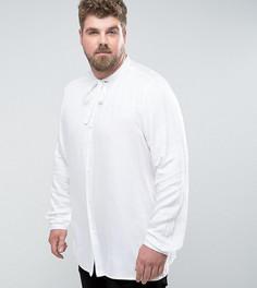 Белая рубашка классического кроя с бантом ASOS PLUS - Белый