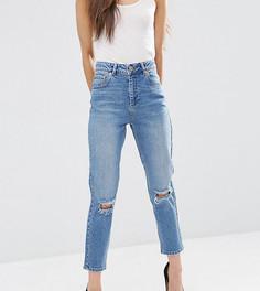Узкие рваные джинсы в винтажном стиле ASOS PETITE FARLEIGH - Синий
