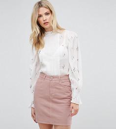 Прозрачная блузка с цветочной вышивкой ASOS TALL - Белый