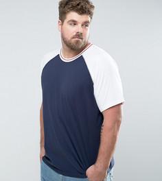 Бейсбольная футболка с рукавами реглан Another Influence PLUS - Белый