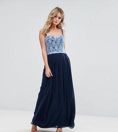 Платье макси с кружевным лифом Elise Ryan - Темно-синий
