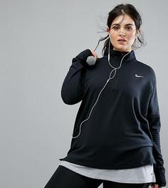 Черная куртка на короткой молнии Nike Plus Running Element Sphere - Черный