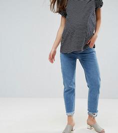 Прямые джинсы с необработанным краем и посадкой под животом ASOS MATERNITY FLORENCE - Синий