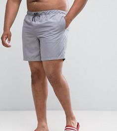 Серые шорты для плавания средней длины ASOS PLUS - Серый