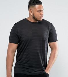 Длинная футболка с прозрачными полосками ASOS PLUS - Черный