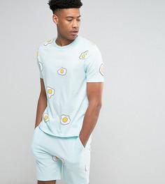Пижама с принтом ASOS TALL - Синий