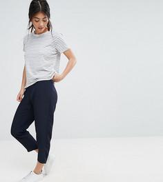 Мягкие брюки-галифе ASOS PETITE - Темно-синий