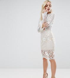Кружевная юбка миди Missguided Petite - Белый