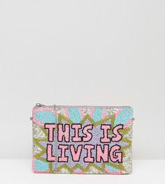 Сумка-клатч с отделкой ручной работы From St Xavier X How Two Live - Розовый