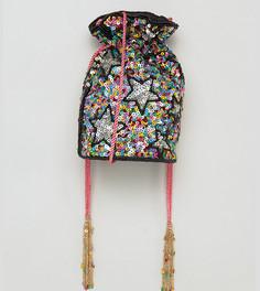Разноцветная сумка через плечо с отделкой ручной работы From St Xavier X How Two Live - Мульти
