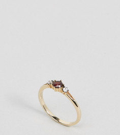 Кольцо с позолотой 18 кт и красным камнем Regal Rose - Золотой