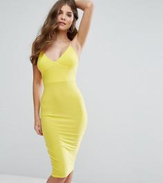 Платье-миди с бретельками Club L - Желтый