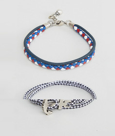 Набор браслетов в морском стиле ASOS - Темно-синий